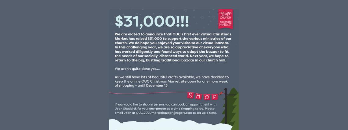 OUC Christmas Market  Raises:
