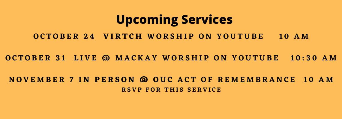 Upcoming Worship